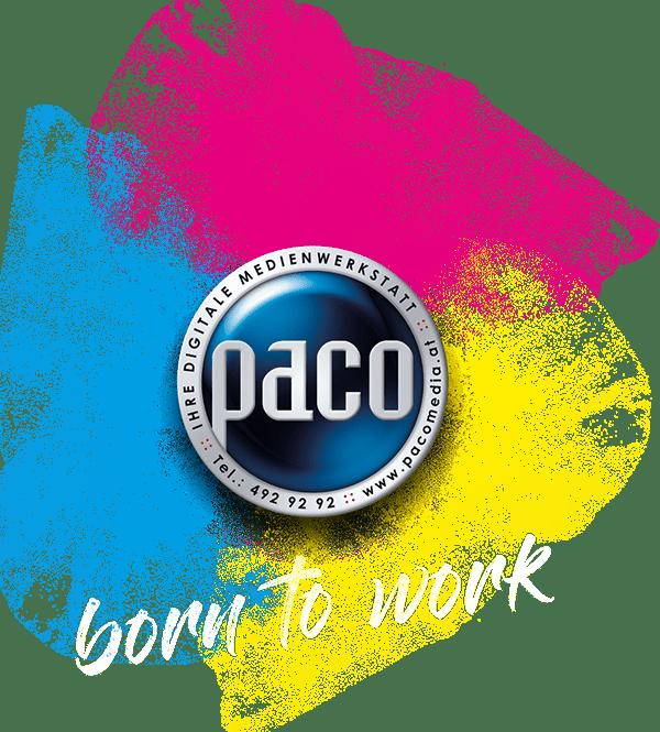paco Medienwerkstatt Logo - born to work!